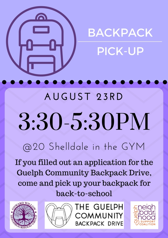 Backpack Pickup Poster 2017