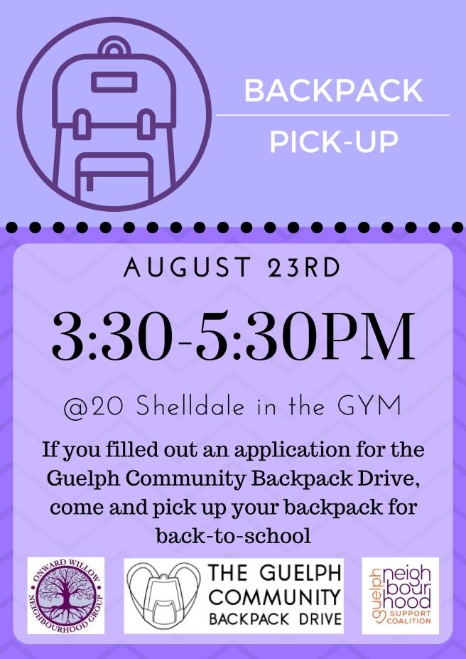 Backpack Pickup Poster 2017