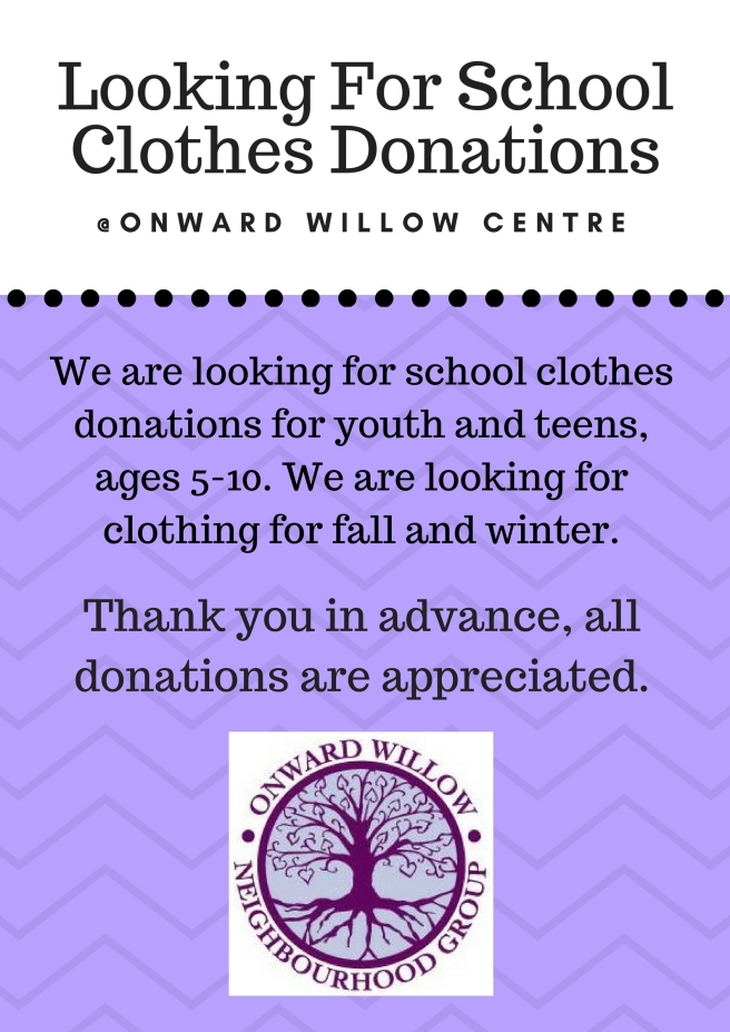 School Clothes Donation Poster 2017