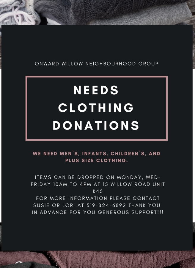Gray Clothes All Donation Poster