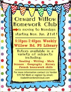 homework club 2019 poster
